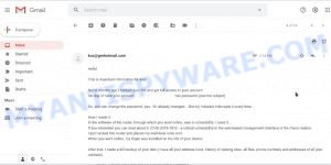 Some months ago I hacked ýour OS and got fuĺĺ access to ýour account EMAIL SCAM