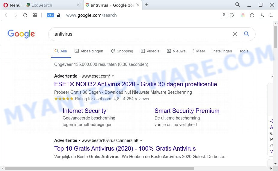 Eco Search ads