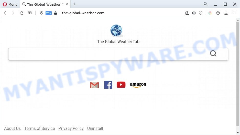 The Global Weather Tab