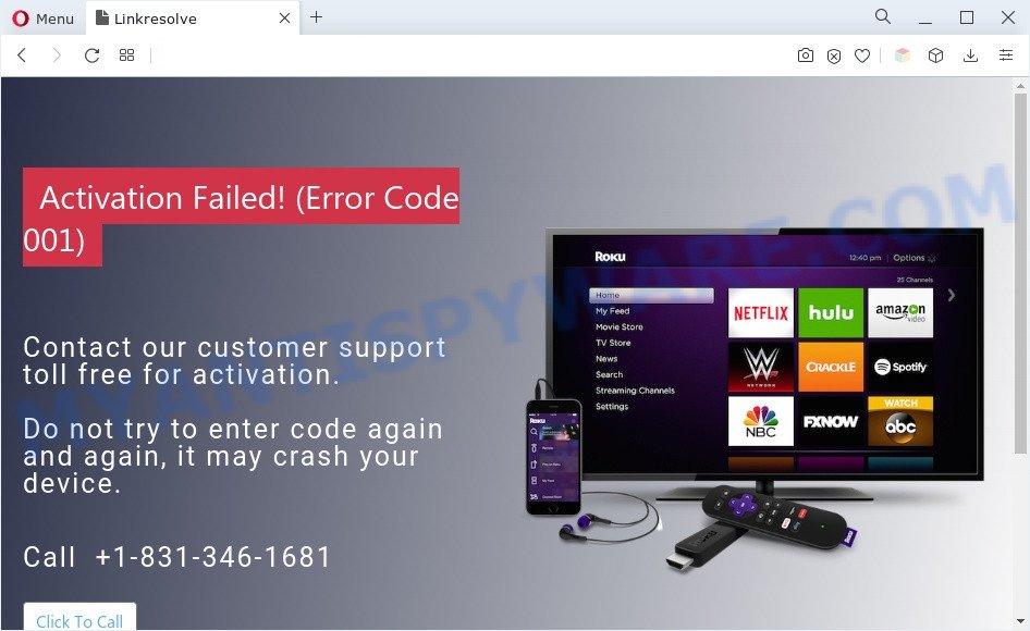 Activation Failed! (Error Code 001)