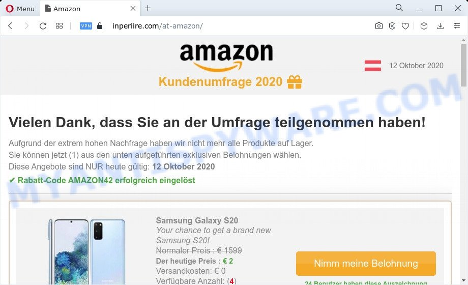 Congratulations Dear Amazon Customer last page