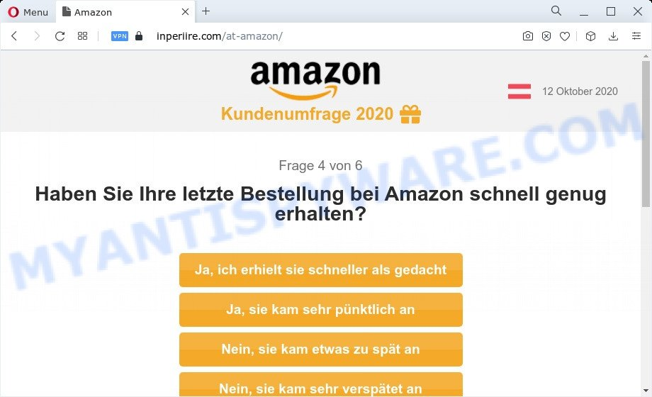 Congratulations Dear Amazon Customer step 4