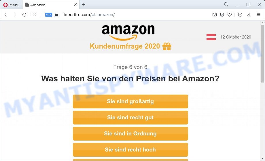 Congratulations Dear Amazon Customer step 6