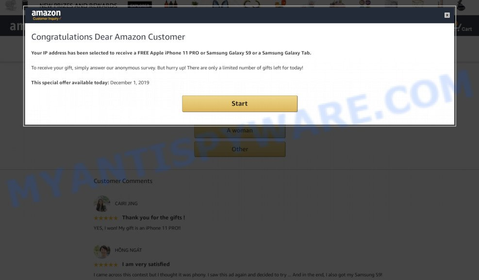 Congratulations Dear Amazon Customer