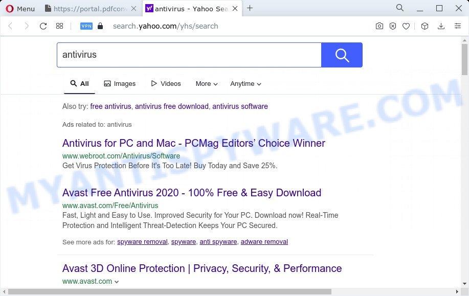 PDFConverterSearch4Free ads