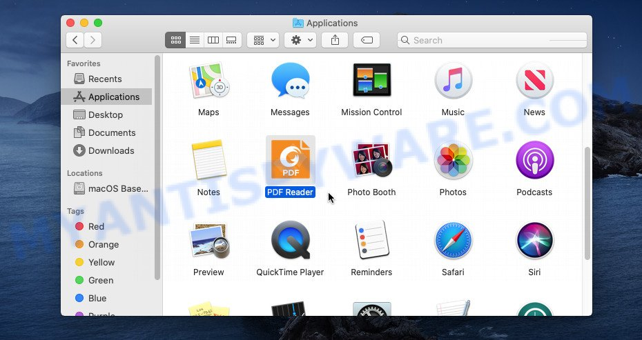 finder list apps
