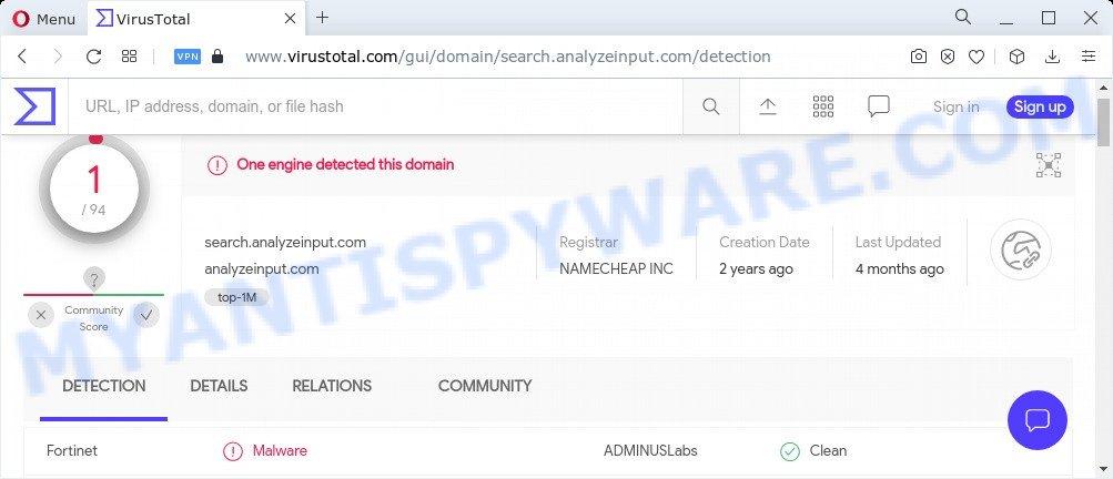 search.analyzeinput.com vt