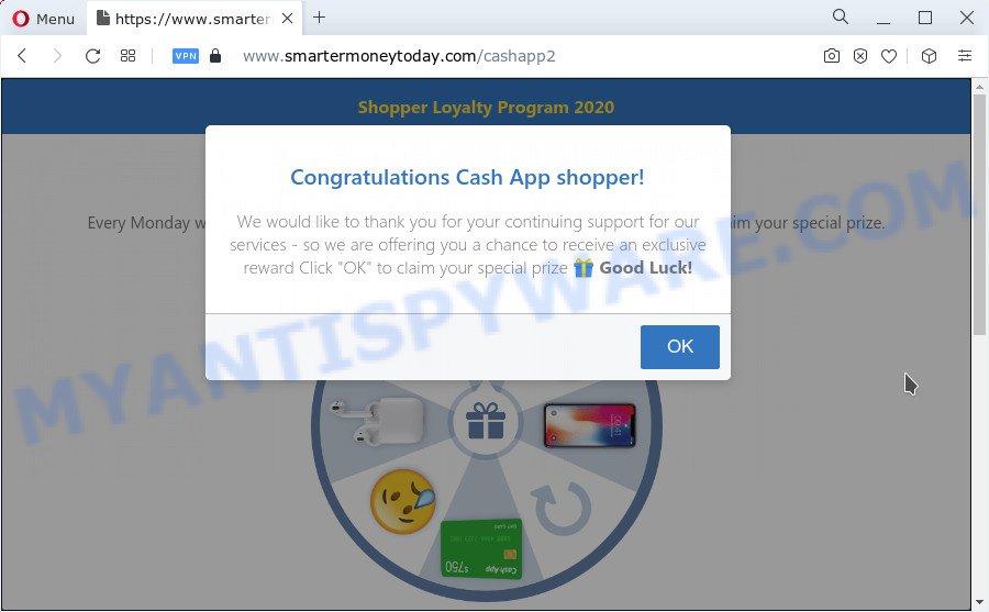 Congratulations Cash App shopper