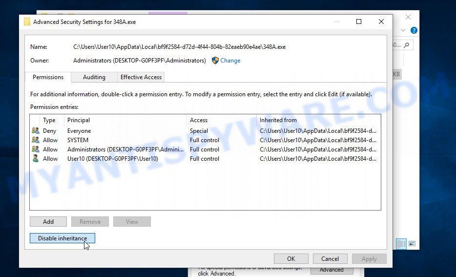 Lisp virus removal 6