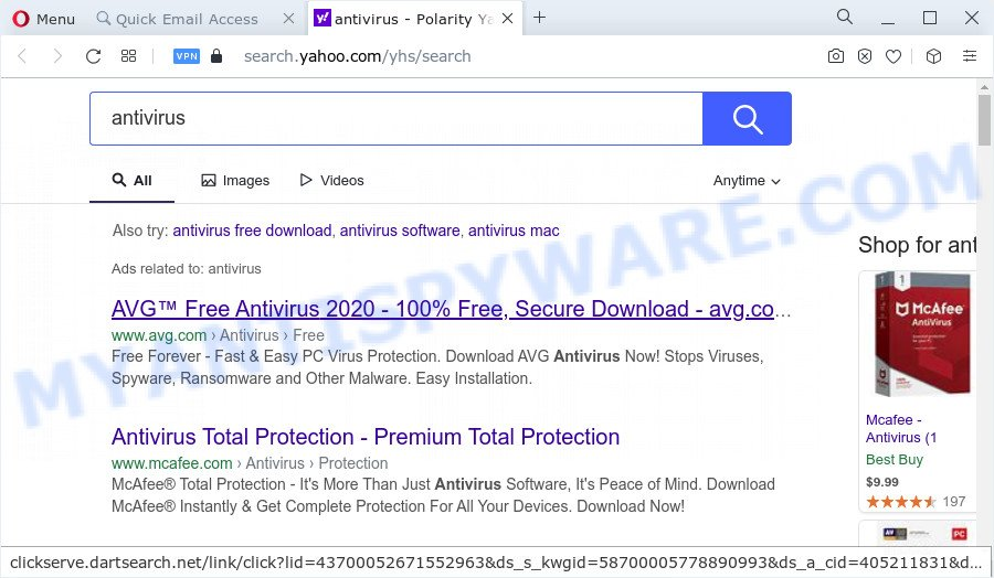 Search.hquickemailaccess.biz redirect