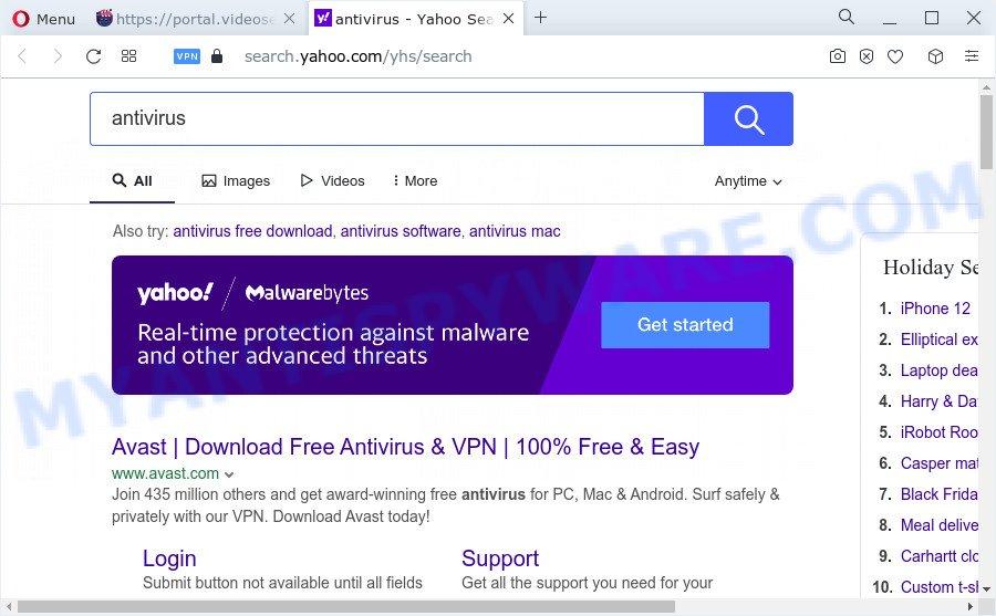 VideoSearchWeb ads