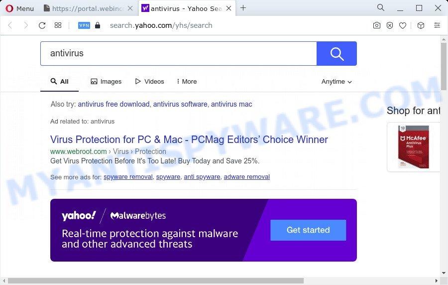 WebIncognitoSearch ads
