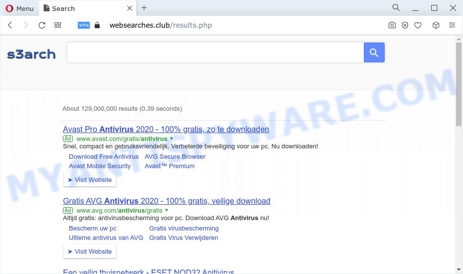 Websearches.club ads