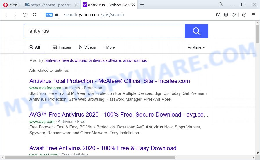 ProStreamsSearch ads