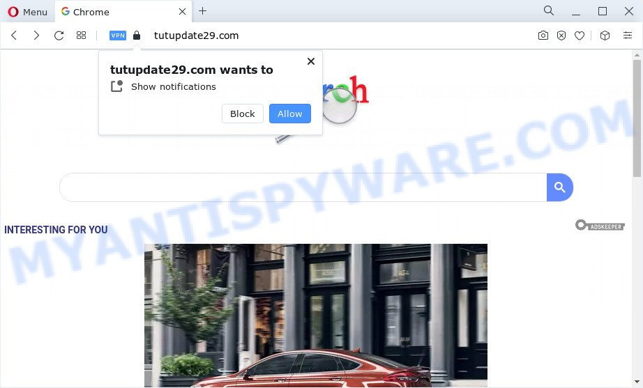 Tutupdate29 fake search engine