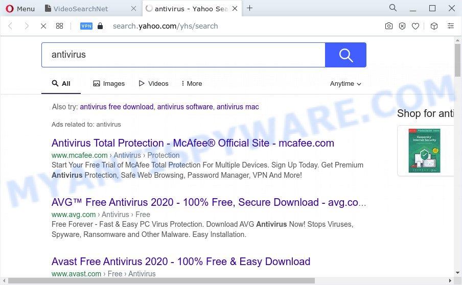 VideoSearchNet ads