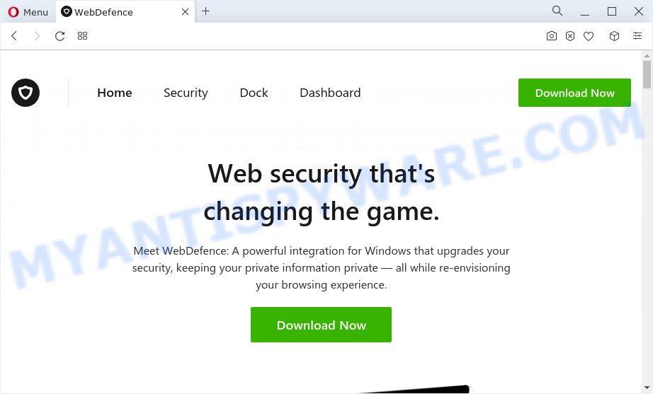 WebDefence website