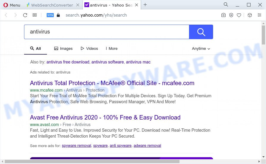 WebSearchConverter ads