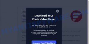 fake Flash Video Player pop-up scam