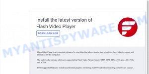 fake Flash Video Player pop-ups