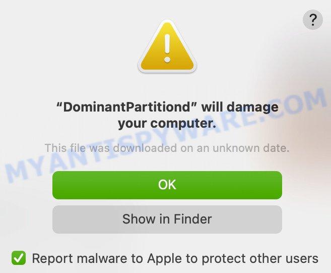 DominantPartition malware