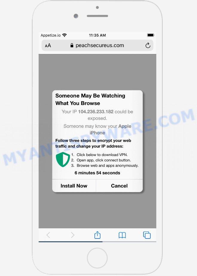 Peachsecureus.com scam
