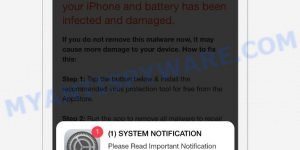 SYSTEM NOTIFICATION scam