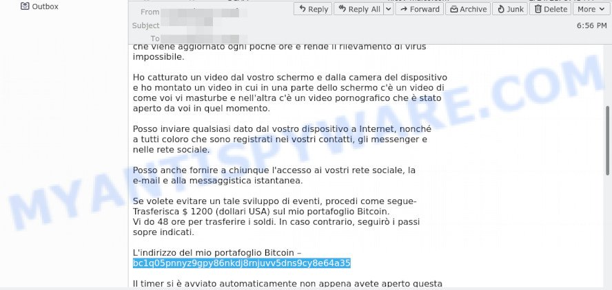 The device has been successfully hacked - Italian verison