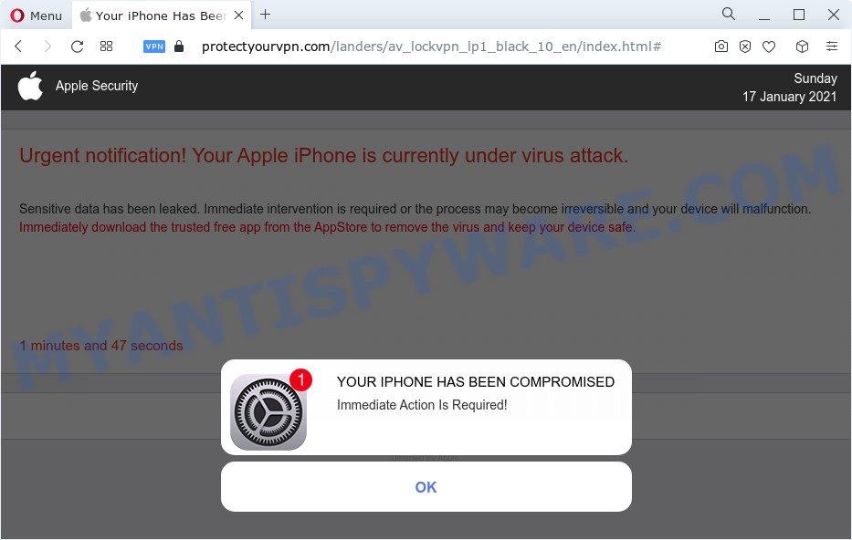 protectyourvpn.com scam