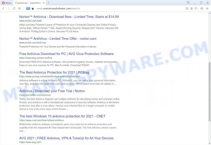searchresultsfinder.com redirects