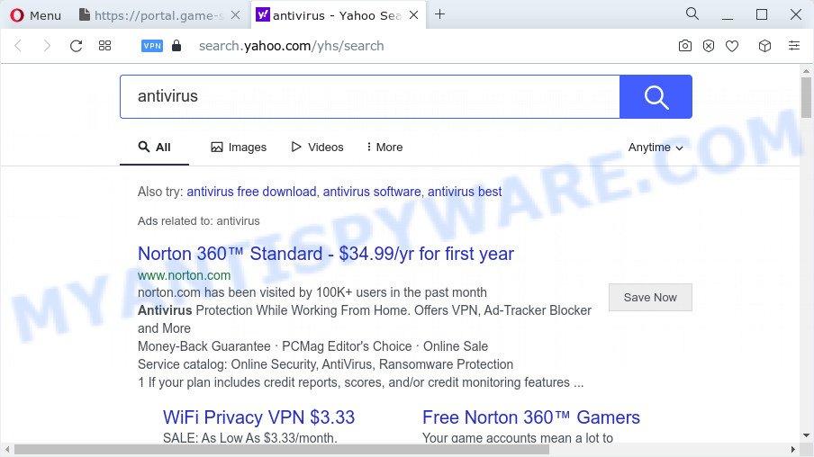 GameSearcher ads