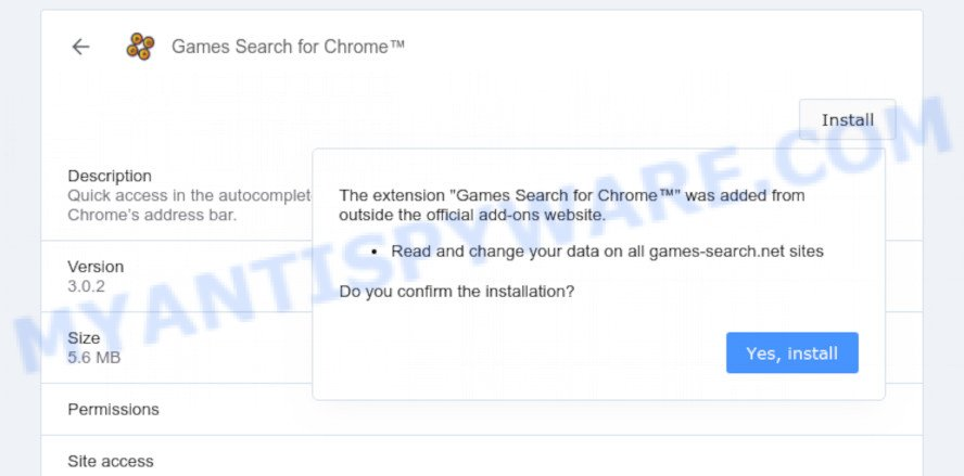 Games Search for Chrome