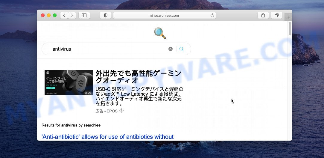 Searchlee redirect virus