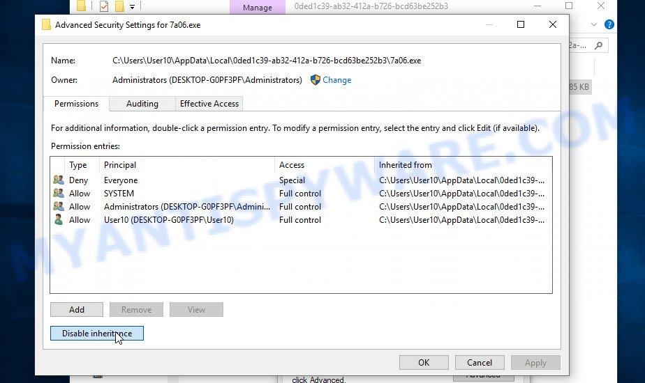 Ygkz virus - fix permissions