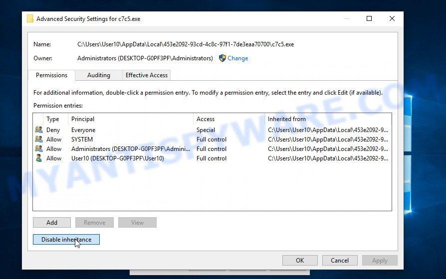 remove cadq virus 3