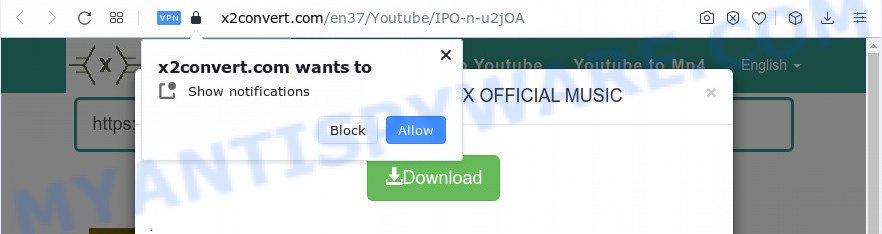 x2convert.com spam notfications