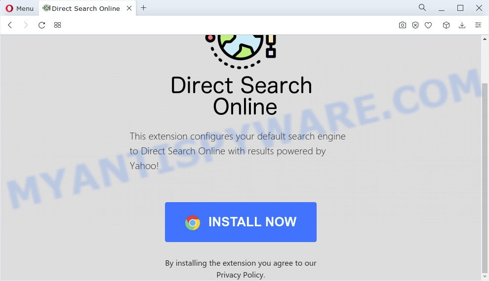 Direct Search Online pop-up