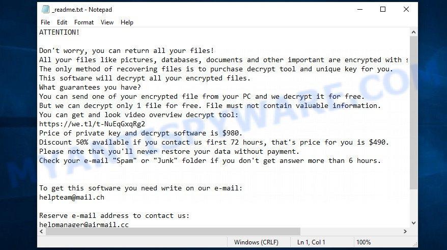 Ekvf ransom note