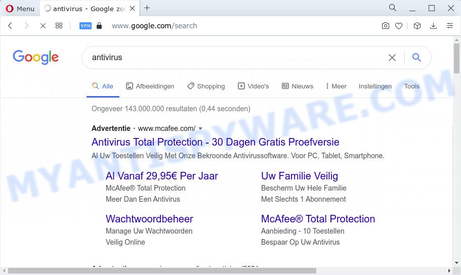 Secured Browser Search redirects