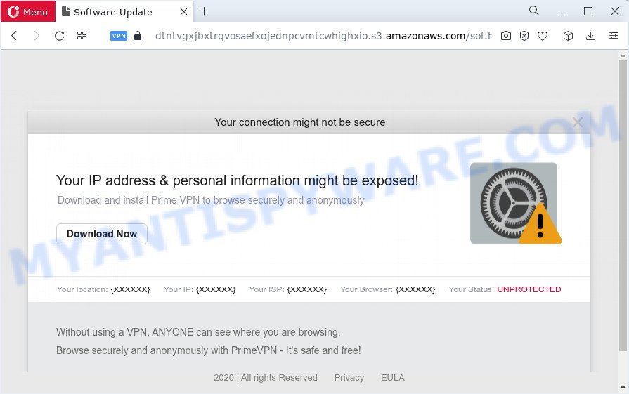 Your connection might not be secure is a SCAM Message