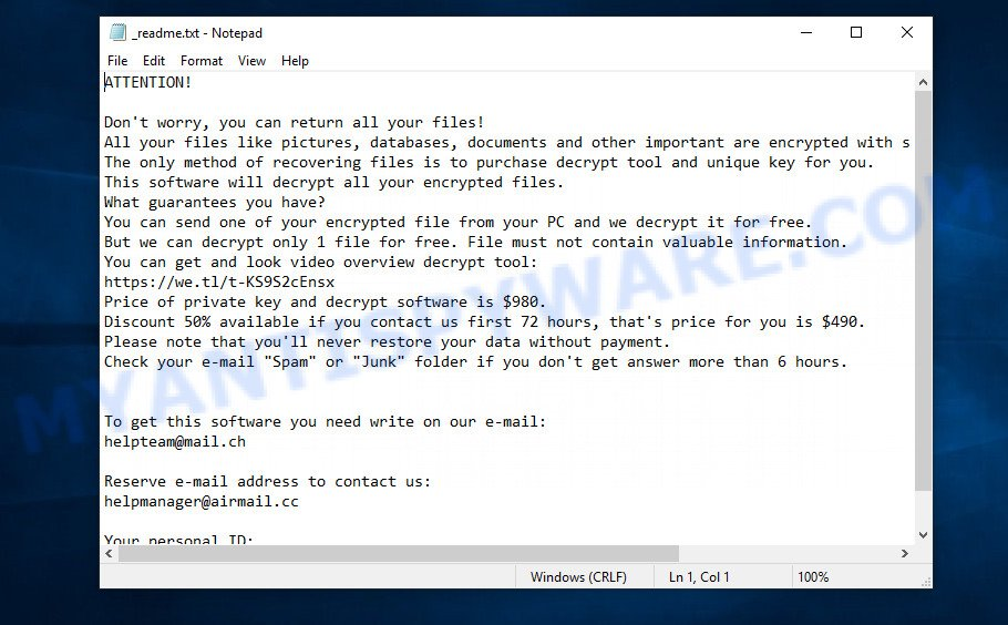 Ytbn ransom note