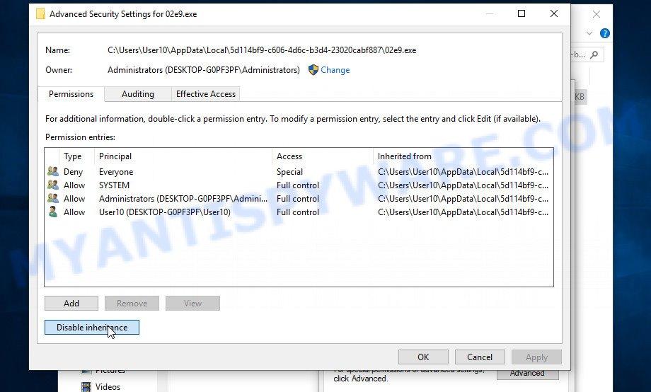remove Ekvf virus 3