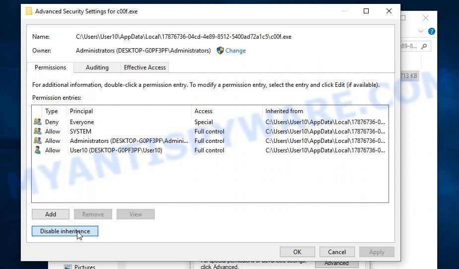 remove Enfp virus 3