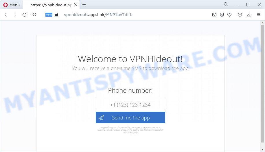 HideoutVPN pop-up