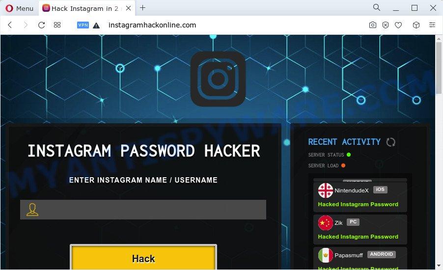 Instagram Password Hacker SCAM