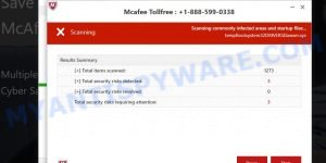 McAfee Tollfree POP-UP SCAM