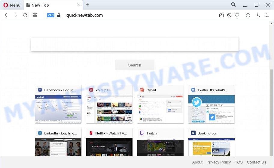 Quick App browser hijacker