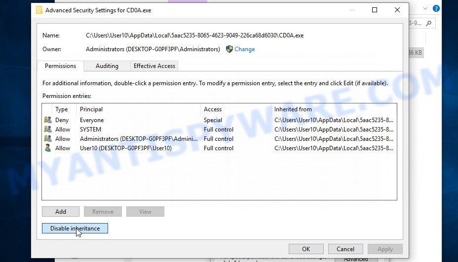 remove Wrui virus 3