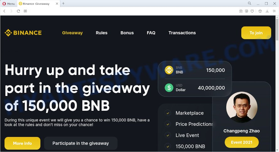 Binance giveaway scam