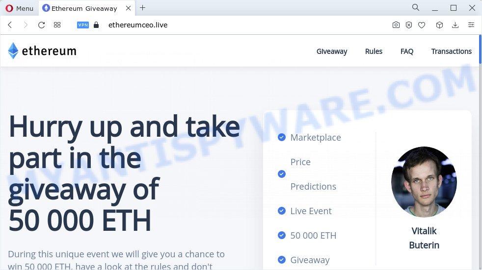 Ethereum Giveaway scam